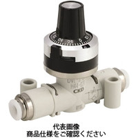 CKD(シーケーディー) ダイヤル付ニードルバルブ DVLシリーズ DVL-S-06-H66-080 1個 332-4940 (直送品)
