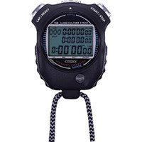 リズム時計(Rhythm Watch) シチズン ストップウオッチ058 黒色 LC058-A02 1個 293-1338 (直送品)