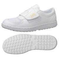 ミドリ安全 2125004112 静電作業靴 エレパス303 マジックタイプ 白26.5cm 1足 (直送品)