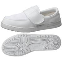 ミドリ安全 2105105408 男女兼用 静電作業靴 エレパス M103マジックタイプ 白 24.5cm 1足 (直送品)