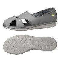 ミドリ安全 2100000903 静電作業靴 PSー01S 大サイズ グレイ30.0cm 1足 (直送品)