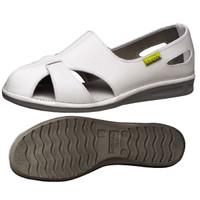 ミドリ安全 2100110012 静電作業靴 エレパスクールN 白 26.5cm 1足 (直送品)