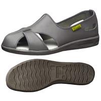 ミドリ安全 2100110206 静電作業靴 エレパスクールN グレイ 23.5cm 1足 (直送品)