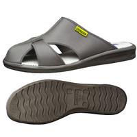ミドリ安全 2100111104 静電作業靴 エレパスクールライトN グレイ L 1足 (直送品)