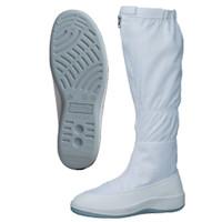 ミドリ安全 2100115110 静電作業靴 エレパスクリーンブーツ SU561 白25.5cm 1足 (直送品)