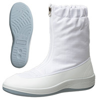 ミドリ安全 2100115308 静電作業靴 エレパスクリーンブーツ SU551 白24.5cm 1足 (直送品)