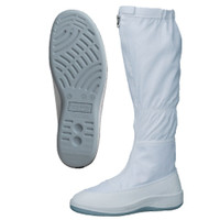 ミドリ安全 2100115202 静電作業靴 エレパスクリーンブーツ SU561大サイズ 白 29.0cm 1足 (直送品)