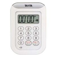 タニタ 丸洗いタイマー 100分計 TD-378 ホワイト 8644720 EBM (取寄品)