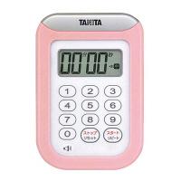 タニタ 丸洗いタイマー 100分計 TD-378 ピンク 8644730 EBM (取寄品)