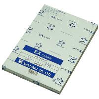 桜井 クリーンペーパー EXクリーン ブルー A3 EX72BA3 1箱(1250枚:250枚×5冊)