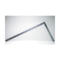 シンワ測定 曲尺厚手広巾 シルバー 表裏同目 8段目盛 JIS 呼寸 52cm 11481 1本 (取寄品)