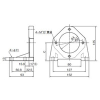 ダイキン油機 ポンプフート V8M-10 1個 (直送品)
