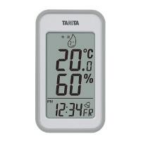タニタ デジタル温湿度計 グレー TT559GY   1個    (わけあり品)