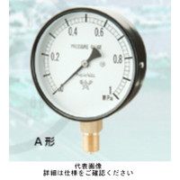 右下精器製造 普通型圧力計 汎用圧力計 スターゲージ AT3/8-75X0.6MPA 1個 (直送品)