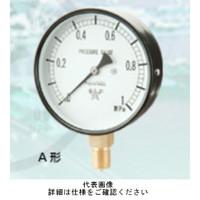 右下精器製造 普通型圧力計 汎用圧力計 スターゲージ AT3/8-75X1MPA 1個 (直送品)