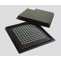 精密部品保管搬送ケース メッシュタイプ 黒 101.3×101.3×8mm 保持力17〜25g/20mm 3-5372-01 (直送品)