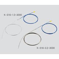 アズワン Kシース熱電対(SUS316タイプ)650℃ φ1.0×3000mm 1個 3-5393-02 (直送品)