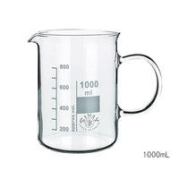 Kavalierglass ガラス手付ビーカー 400mL 1個 3-6008-02 (直送品)