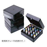 アズワン 遮光プラスチッククライオボックス R3121 100本収納 5個入 1袋(5個) 3-6297-01 (直送品)