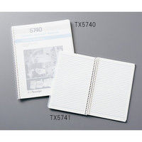 テックスワイプ(Texwipe) クリーンルーム ノートブック ステートメント 140×216mm TX5741 1冊 3-6473-02 (直送品)