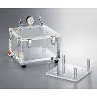 アズワン リークテスト用真空デシケーター 300×300×220 1個 3-6773-01 (直送品)