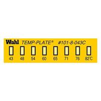 Wahl instruments 真空用テンプ・プレート 101-8V-043 38mm×10mm 1ケース(10枚) 61-3815-52 (直送品)