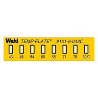 Wahl instruments 真空用テンプ・プレート 101-8V-087 38mm×10mm 1ケース(10枚) 61-3815-53 (直送品)