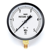 イチネンTASCO 普通型圧力計 100φフレアタイプ圧力計(5.0Mpa) TA141GF-350 1個 (直送品)