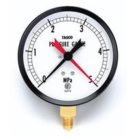イチネンTASCO 普通型圧力計 100φ圧力計(5.0Mpa設置針式) TA148AF-350 1個 (直送品)