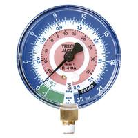 アサダ(ASADA) 普通連成計 R410A用低圧連成計 校正証明書付 φ80mm Y49254 1個 (直送品)