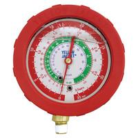 アサダ(ASADA) グリセリン入圧力計 R12等用グリセリン入高圧圧力計 φ80mm Y49171 1個 (直送品)