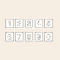 トーアン 測量用品 吹付ハザ折小 0〜9(10枚組)170×150 29-203 1組(10枚) (直送品)