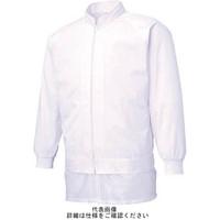 サンエス 男女共用混入だいきらい長袖ジャケット LL ホワイト FX70971R-LL-C11 1着 795-5332 (直送品)