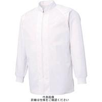 サンエス 超清涼 男女共用混入だいきらい長袖コート LL ホワイト FX70650R-LL-C11 1着 795-5189 (直送品)