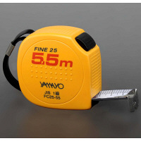 ヤマヨ測定機 コンベックス セーフティタイプ ファイン25 25mm幅×5.5m FC25-55 1個 (取寄品)