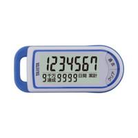 タニタ 3Dセンサー搭載歩数計 最大99999999歩「億歩計」 ブルー FB732BL 1台  (直送品)