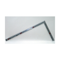シンワ測定 曲尺角厚 シルバー 併用目盛 一尺/呼寸 32cm 10027 1本 (取寄品)