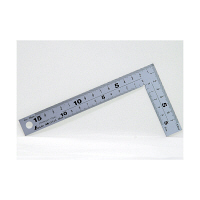 シンワ測定 曲尺厚手広巾 シルバー 表裏同目 8段目盛 呼寸 17cm 10424 1本 (取寄品)