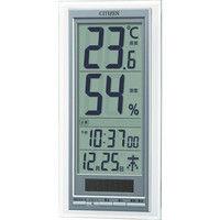 リズム時計(Rhythm Watch) シチズン ソーラーアシスト式温湿度計 8RD204-A19 1個 835-4816 (直送品)