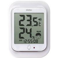ドリテック デジタル温湿度計 ルーモ 白 O-293WT