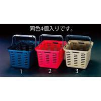 esco(エスコ) 465x385x280mm/27Lバスケット(茶/4個) EA505AS-3 1セット(4個) (直送品)