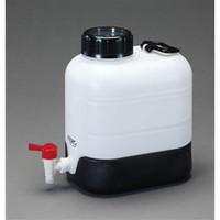 esco(エスコ) 10Lポリ容器(底部傾斜・コック付) EA508AW-10 1個 (直送品)