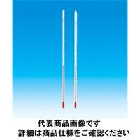 東京硝子器械 赤液棒状温度計 0ー100℃ 300L  801-53-06-10 1本 (直送品)