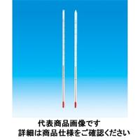東京硝子器械 赤液棒状温度計 0ー200℃ 300L  801-53-06-17 1本 (直送品)