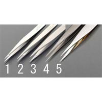 esco(エスコ) 0.5x115mm精密用ピンセット(ステンレス製) EA595E-1 1セット(2本) (直送品)