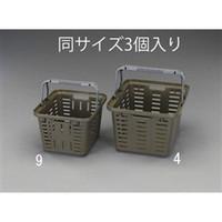 esco(エスコ) 465x385x280mm/27Lバスケット(OD/3個) EA505AS-4 1セット(6個:3個×2セット) (直送品)