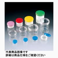 サンプラテック プラ壷 50mL 本体カラー:透明 キャップ:青 3-19 01762 100個 (直送品)