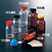 サンプラテック 散薬瓶 300mL 茶  13400 1本 (直送品)
