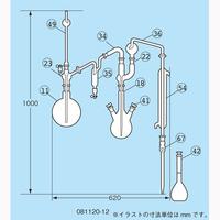 柴田科学 フッ素イオン蒸留装置 I型 ガラス部のみ  081120-12 1個 (直送品)
