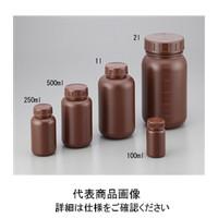 アズワン 広口瓶 100mL HDPE製・遮光 2-5077-01 (直送品)